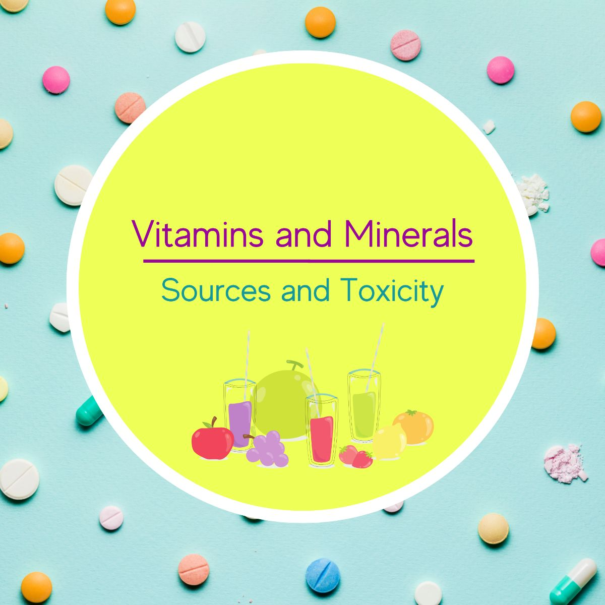 All Vitamins and Minerals, sources and deficiencies