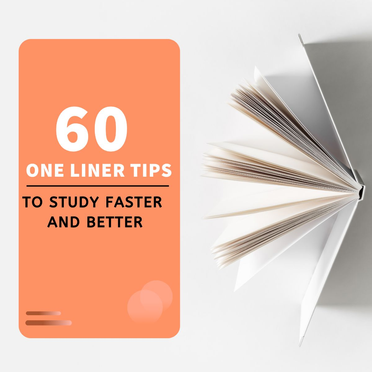 60 one liner tips to study faster and better